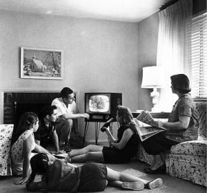 TV Watching circa 1958
