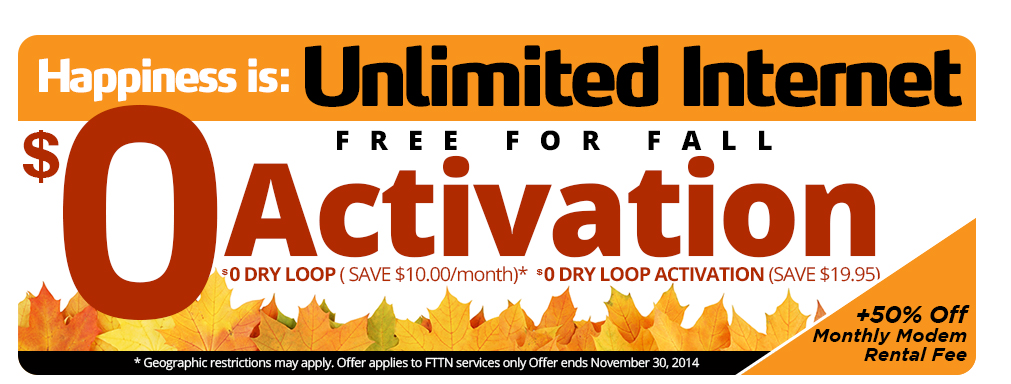 Free For Fall-dsl-promo