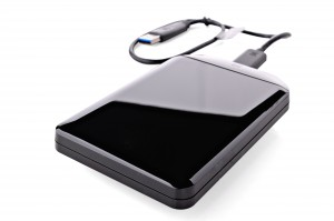 External hard drive for storing data and restoring from backups