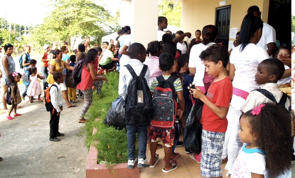 Kids in the Dominican Republic, ready for school thanks for Backpacks for Kids